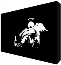 Banksy Fallen Angel Canvas Art - Choose your size - Ready to Hang - Free P&P